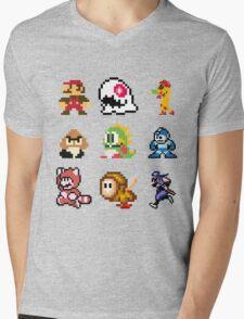 8 bit Mens V-Neck T-Shirt