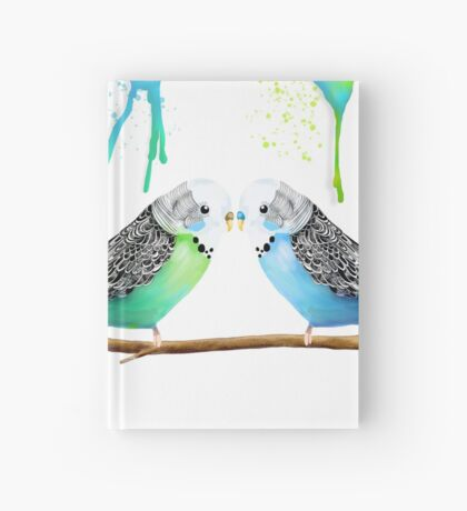 Budgie Love Hardcover Journal