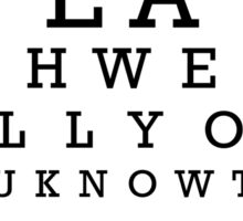 The Big Lebowski Eye Chart Sticker