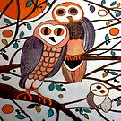 "The Owl Family by Belinda ""BillyLee"" NYE (Printmaker)"