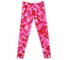 Pink Camo Pattern 1 Leggings