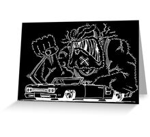 Rat Fink Style Monster & 1969 Coronet Greeting Card