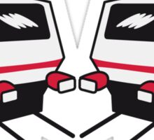 Train express train railway passenger train Sticker