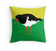 Pied Oyster Catcher  Throw Pillow