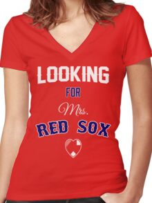 Looking for Mrs. Red Sox Women's Fitted V-Neck T-Shirt
