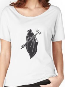 Death hooded toilet sucker Pümpel funny Women's Relaxed Fit T-Shirt