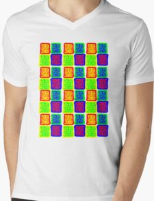 Box Patterns Mens V-Neck T-Shirt