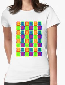 Box Patterns Womens Fitted T-Shirt