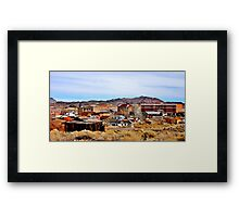 A Town In Nevada Framed Print