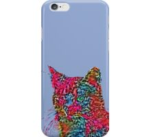 Artificial neural style Rose wild cat iPhone Case/Skin