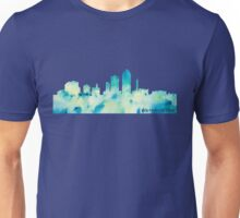 Des Moines Watercolor Skyline Unisex T-Shirt