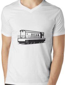 Train train Rangieren locomotive Mens V-Neck T-Shirt