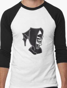 Death hooded sunglasses skull Men's Baseball ¾ T-Shirt