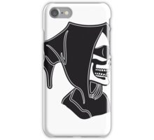 Death hooded sunglasses skull iPhone Case/Skin