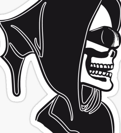 Death hooded sunglasses skull Sticker
