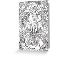 Celebrate Nature B&W Greeting Card