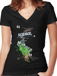 NDT Women's Fitted V-Neck T-Shirt
