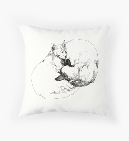 Chinky and Chang ~ yin and yang Throw Pillow