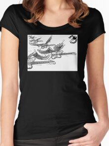 Flying Guitars Women's Fitted Scoop T-Shirt