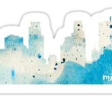 Minneapolis, Minnesota Watercolor Skyline Sticker