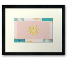 Beach and Sun Collage Framed Print