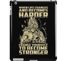 Super Saiyan Bardock Become Stronger Shirt - RB00476 iPad Case/Skin