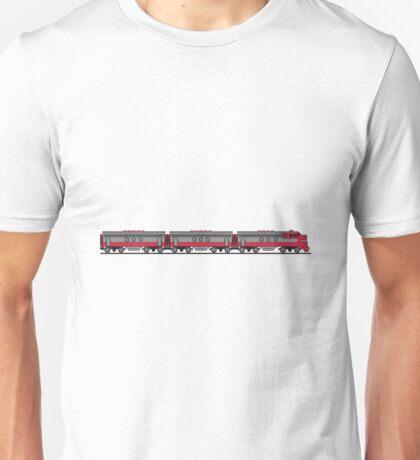 Train railway diesel locomotive wagons Unisex T-Shirt