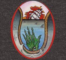 nautical tattoo; shipwreck and zombie sailor, sharks Zipped Hoodie