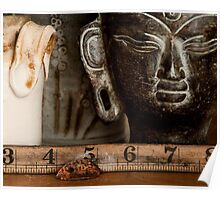 Still Life - Copper Leaf Ruler, and Buddha Poster