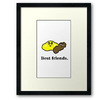 Best Friends - Pee and Poo Framed Print