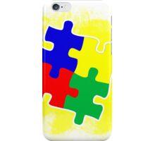 Autism Awareness Puzzle Yellow iPhone Case/Skin