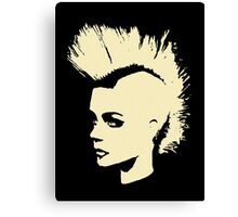 Punk Girl – bichrome print Canvas Print