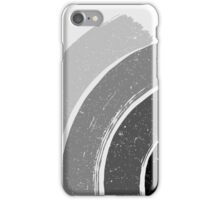 Brush Abstract 4 Grey iPhone Case/Skin