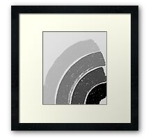 Brush Abstract 4 Grey Framed Print