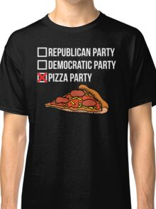 Republican Party vs Democratic Party vs Pizza Party Classic T-Shirt