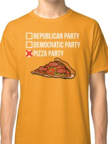 Republican Party vs Democratic Party vs Pizza Party Classic T-Shirt
