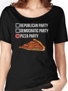 Republican Party vs Democratic Party vs Pizza Party Women's Relaxed Fit T-Shirt
