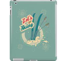 Let's go Skiing retro poster iPad Case/Skin