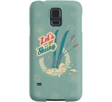 Let's go Skiing retro poster Samsung Galaxy Case/Skin