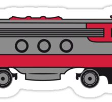 Train railway diesel locomotive Sticker