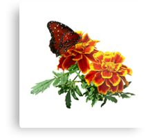 Queen Butterfly on Marigold Metal Print