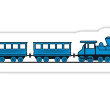 Train railroad steam locomotive wagons Sticker