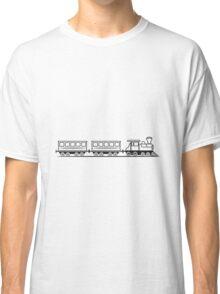 Train railroad steam locomotive wagons Classic T-Shirt