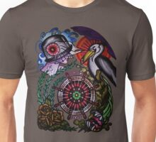 hold fast sailor's wife with pelican tattoo flash, shirts Unisex T-Shirt