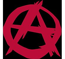 Aranchy Anarchist Symbol Photographic Print