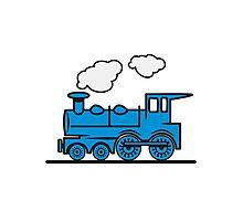 Train railroad steam locomotive Photographic Print