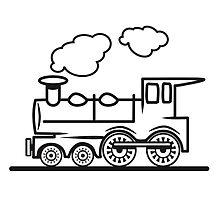 Train railroad steam locomotive by Motiv-Lady