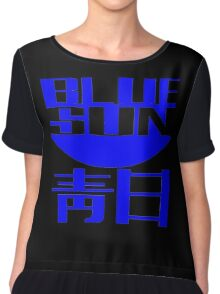 Blue Sun Corporate Logo Chiffon Top