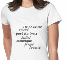 Ballet Love Womens Fitted T-Shirt