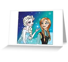 Disney Princesses - Anna and Elsa Greeting Card